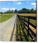 Long Fence For A Long Road Acrylic Print