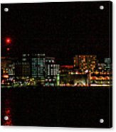 Madison Wi Skyline At Night Acrylic Print