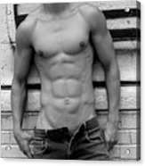 Male Abs Acrylic Print