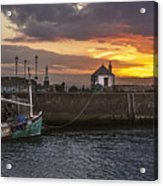 Maryport Harbour At Sunset Acrylic Print