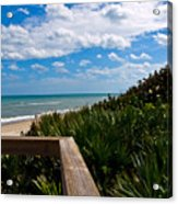 Melbourne Beach On The East Coast Of Florida Acrylic Print