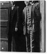 Men Males In Suits Standing Doorway June 1927 Acrylic Print