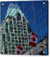 Modern Architecture - City Reflection Vancouver  Acrylic Print
