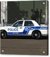 Montreal Police Car Poster Art Acrylic Print