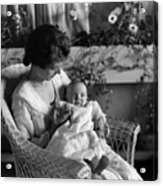 Mother Holding Baby 1910s Black White Archive Acrylic Print