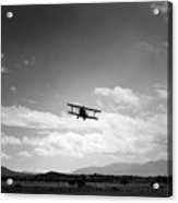 Navy Biplane Coming In For Landing 19411945 Acrylic Print