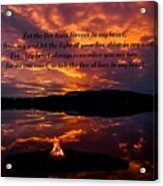 No One Can Quench The Fire Of Love In My Heart Acrylic Print