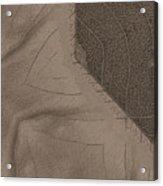 Oak Leaf Abstract Acrylic Print