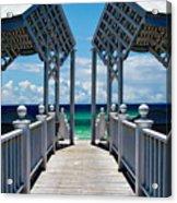 Oceanfront Pavilion Acrylic Print
