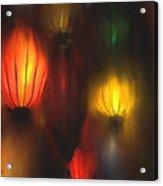 Orange Lantern Acrylic Print
