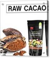 Organic Unroasted Cacao Powder Acrylic Print