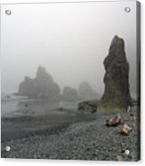 Pillar In Fog Acrylic Print