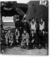 Pilot Crew W Airplane Nightmare 19411945 Black Acrylic Print