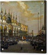 Popolo Di Venezia Solleva Acrylic Print