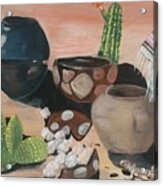 Pottery In The Desert Acrylic Print