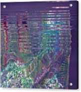 Purple Linear Abstraction Acrylic Print