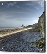 Reculver From Bishopstone Beach Acrylic Print