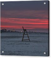 Red Sky In The Morning - Wildwood New Jersey Acrylic Print