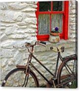Red Window Acrylic Print