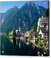 Riverfront  Reflection Austria Acrylic Print
