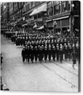 Sailors Marching In Parade 19171918 Black White Acrylic Print