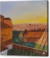 San Gimignano Sunrise Acrylic Print