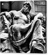 Sculpture In Downtown Nyc Acrylic Print