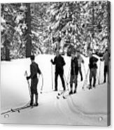 Skiers January 19 1967 Black White 1960s Archive Acrylic Print