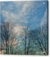 Sky And Cloouds Early Evening Acrylic Print