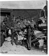 Soldiers Loading Cannon 19171918 Black White Acrylic Print