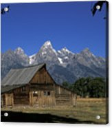South Moulton Barn Grand Tetons Acrylic Print