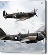 Spitfire And Blenheim Acrylic Print