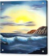Sunset Beach Pastel Splash Dreamy Mirage Acrylic Print
