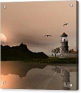 Sunset Ocean Scene Acrylic Print