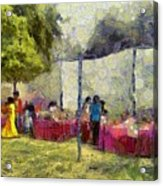 Tables At An Exhibition Acrylic Print