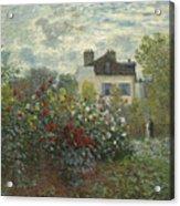 The Artist's Garden In Argenteuil  Acrylic Print