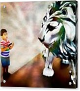 The Boy And The Lion 2 Acrylic Print
