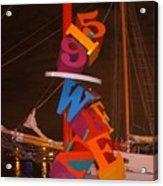 The Night Sail Acrylic Print