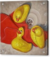 Three Rubber Ducks  #1 Acrylic Print