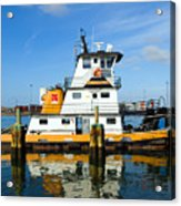 Tug Indian River Is Part Of The Scene At Port Canvaeral Florida Acrylic Print