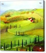 Tuscany Acrylic Print by Maryann Schigur
