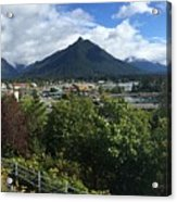 View From Top Of Castle Hill Sitka Alaska 2015 Acrylic Print