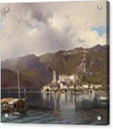 View Of Isola San Giulio In Lake Orta Acrylic Print