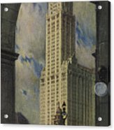 View Of The Woolworth Building Acrylic Print
