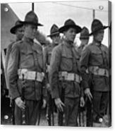 W Soldiers Standing Attention 19171918 Black Acrylic Print