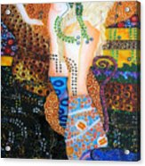 Water Serpents Reply By Gustav Klimt Acrylic Print