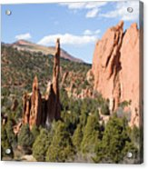 West Garden Of The Gods Acrylic Print