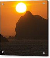 Crescent City Beach Sunset California Acrylic Print