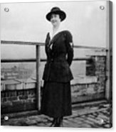 Woman Female In Naval Military Uniform 1918 Acrylic Print