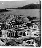 Worlds Fair San Francisco 1915 Black White 1910s Acrylic Print